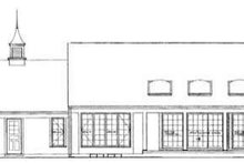 Dream House Plan - Traditional Exterior - Rear Elevation Plan #72-109