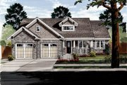 Craftsman Style House Plan - 3 Beds 2 Baths 1818 Sq/Ft Plan #46-524 Exterior - Front Elevation