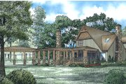 Craftsman Style House Plan - 3 Beds 3.5 Baths 2877 Sq/Ft Plan #17-2542 Exterior - Rear Elevation