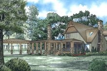Architectural House Design - Craftsman Exterior - Rear Elevation Plan #17-2542