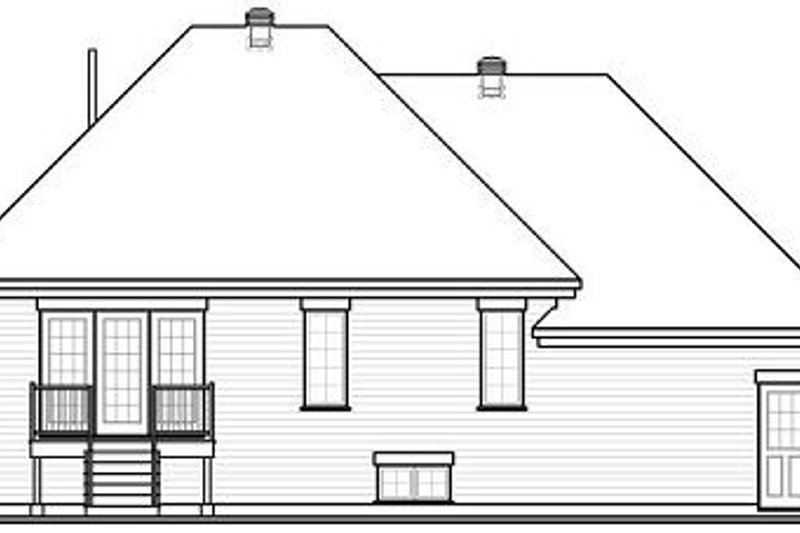 European Exterior - Rear Elevation Plan #23-793 - Houseplans.com
