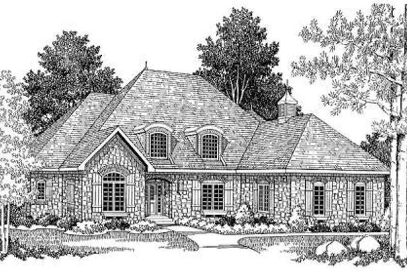 Traditional Style House Plan - 3 Beds 2.5 Baths 2396 Sq/Ft Plan #70-382 Exterior - Front Elevation