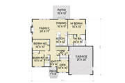 Craftsman Style House Plan - 3 Beds 2 Baths 1841 Sq/Ft Plan #1070-25 Floor Plan - Main Floor Plan