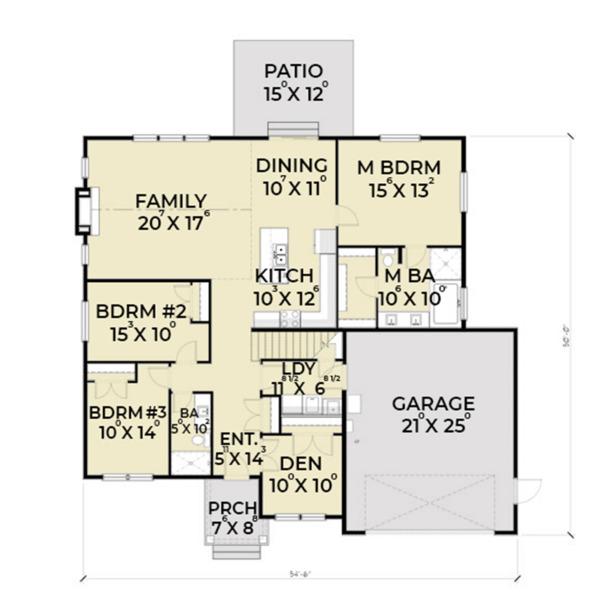 Home Plan - Craftsman Floor Plan - Main Floor Plan #1070-25