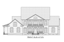 Colonial Exterior - Front Elevation Plan #1054-78