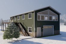 Dream House Plan - Traditional Exterior - Rear Elevation Plan #1060-95