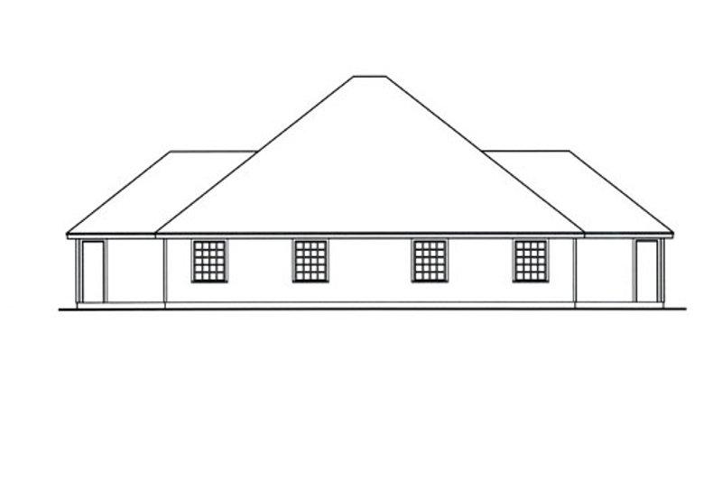 Traditional Exterior - Rear Elevation Plan #42-378 - Houseplans.com