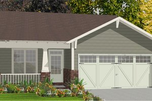 Bungalow Exterior - Front Elevation Plan #63-250