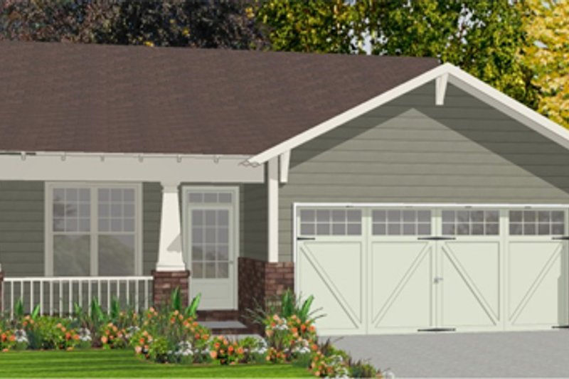 Architectural House Design - Bungalow Exterior - Front Elevation Plan #63-250