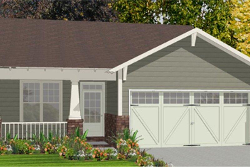 House Plan Design - Bungalow Exterior - Front Elevation Plan #63-250