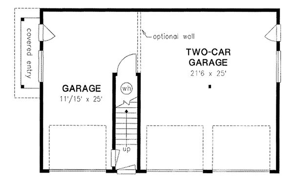 Country style garage plan with living space
