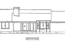 Home Plan Design - Ranch Exterior - Rear Elevation Plan #36-159