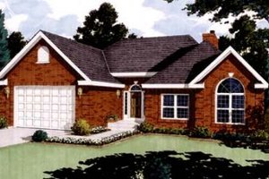 Dream House Plan - Traditional Exterior - Front Elevation Plan #3-103