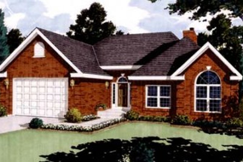 Traditional Exterior - Front Elevation Plan #3-103