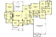Ranch Style House Plan - 4 Beds 3.5 Baths 3366 Sq/Ft Plan #430-190 Floor Plan - Main Floor Plan