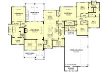 Ranch Floor Plan - Main Floor Plan Plan #430-190