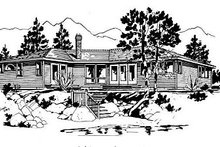 Ranch Exterior - Front Elevation Plan #18-120