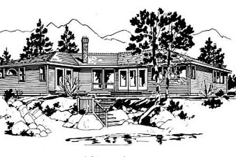 House Blueprint - Ranch Exterior - Front Elevation Plan #18-120