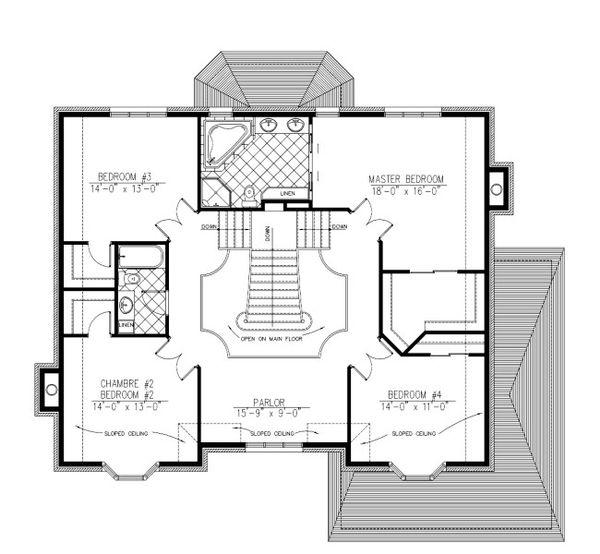 European Floor Plan - Upper Floor Plan Plan #138-333