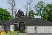 Traditional Style House Plan - 4 Beds 2.5 Baths 2840 Sq/Ft Plan #1-992 Exterior - Front Elevation