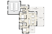 Cabin Style House Plan - 2 Beds 2 Baths 1200 Sq/Ft Plan #924-14