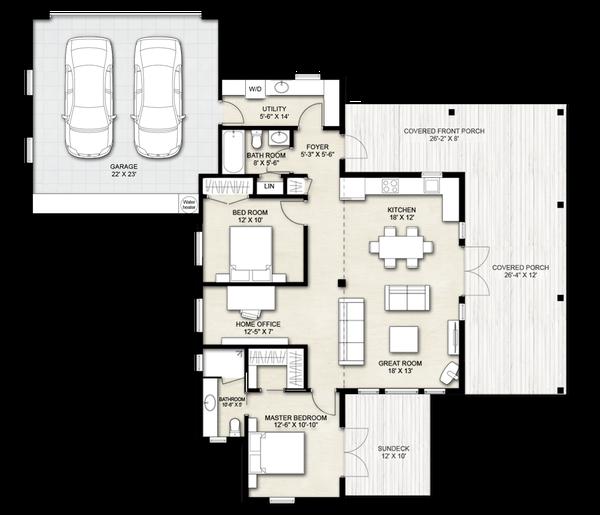 Home Plan - Cabin Floor Plan - Other Floor Plan #924-14
