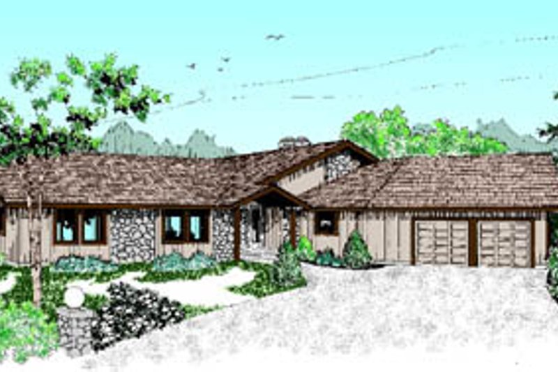 Ranch Exterior - Front Elevation Plan #60-166