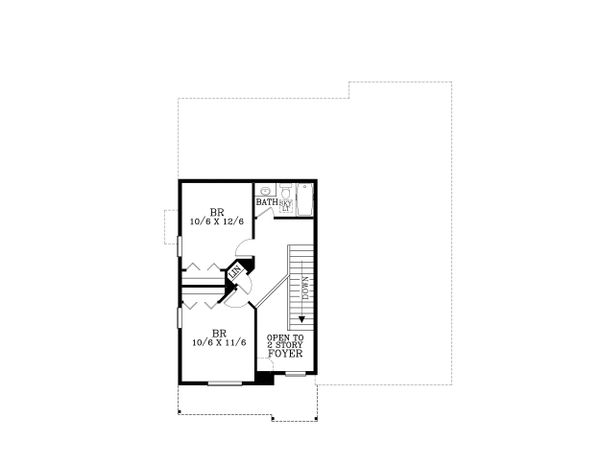 Craftsman Floor Plan - Upper Floor Plan Plan #53-472
