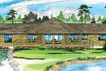 House Plan Design - Log Exterior - Front Elevation Plan #124-140