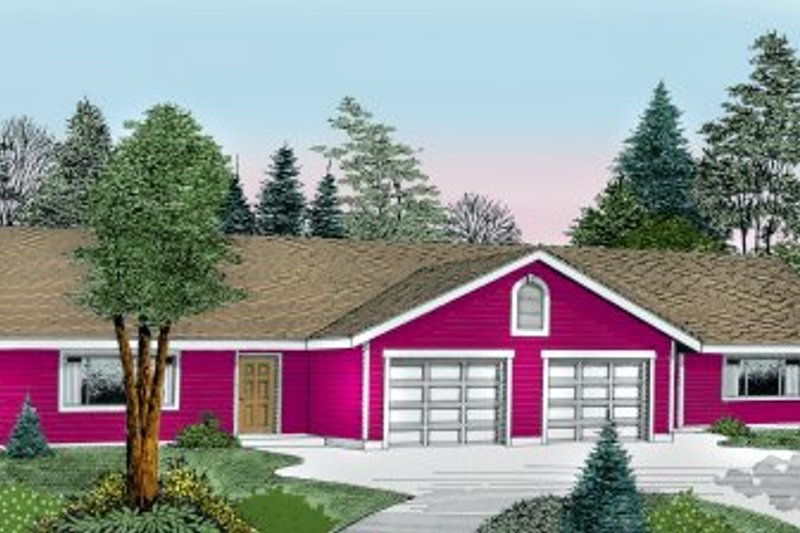 Architectural House Design - Traditional Exterior - Front Elevation Plan #100-107