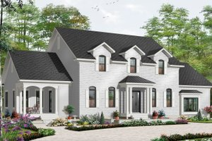 Dream House Plan - Traditional Exterior - Front Elevation Plan #23-2393