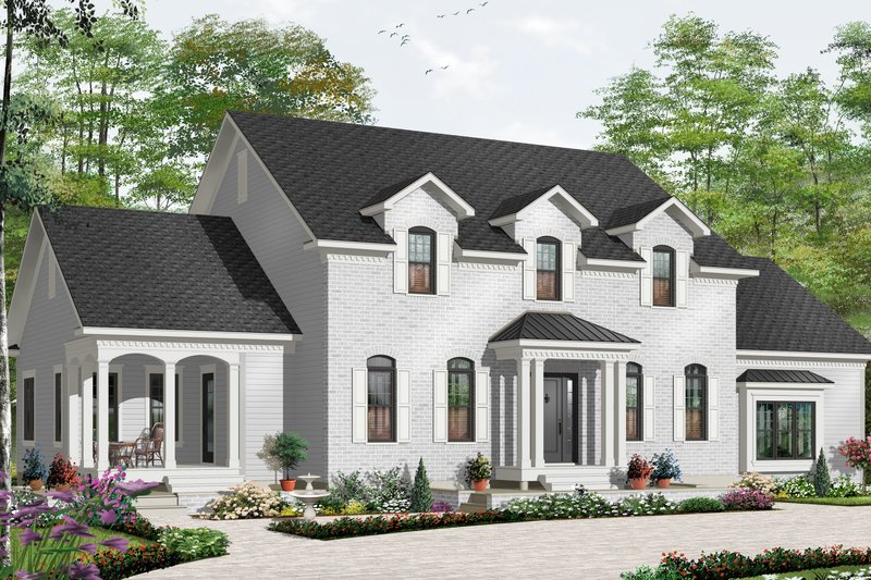 Architectural House Design - Traditional Exterior - Front Elevation Plan #23-2393