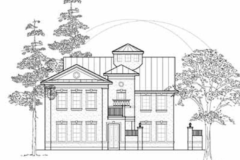 Colonial Exterior - Front Elevation Plan #61-303
