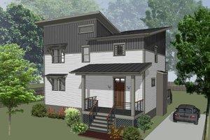 Architectural House Design - Modern Exterior - Front Elevation Plan #79-325