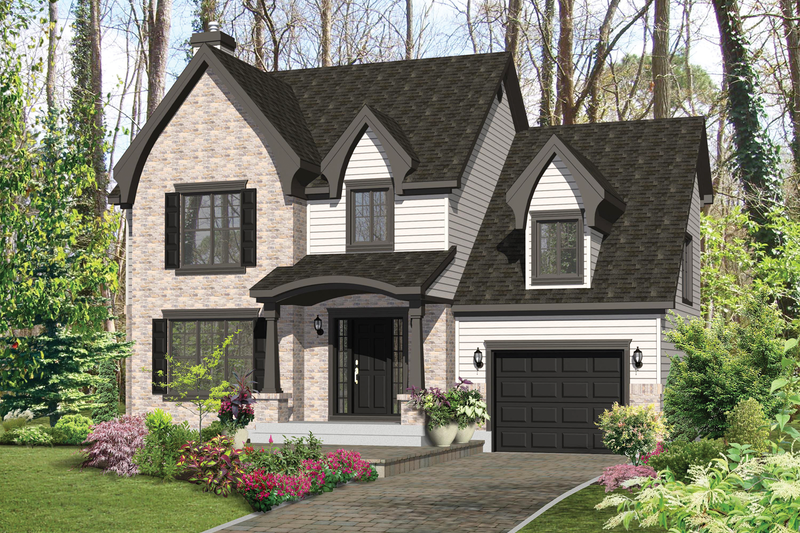 European Style House Plan - 3 Beds 1 Baths 1699 Sq/Ft Plan #25-4852 Exterior - Front Elevation