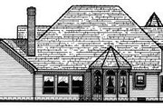 Victorian Style House Plan - 4 Beds 3.5 Baths 3650 Sq/Ft Plan #20-1149 Exterior - Rear Elevation