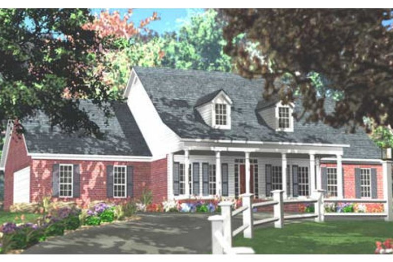 Southern Exterior - Front Elevation Plan #406-275