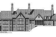 European Style House Plan - 3 Beds 2.5 Baths 3120 Sq/Ft Plan #70-467 Exterior - Rear Elevation