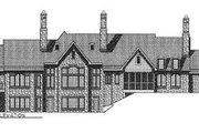 European Style House Plan - 3 Beds 2.5 Baths 3120 Sq/Ft Plan #70-467 Exterior - Rear Elevation