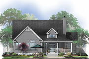 Country Style House Plan - 3 Beds 2 Baths 1700 Sq/Ft Plan #929-43 Exterior - Rear Elevation