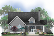 Country Exterior - Rear Elevation Plan #929-43