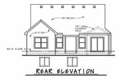 Cottage Style House Plan - 4 Beds 3 Baths 2506 Sq/Ft Plan #20-2413 Exterior - Rear Elevation