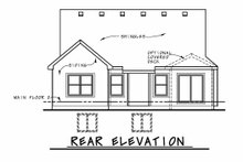 House Design - Cottage Exterior - Rear Elevation Plan #20-2413