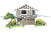 Craftsman Style House Plan - 4 Beds 2.5 Baths 1884 Sq/Ft Plan #53-652 Exterior - Front Elevation
