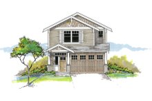Architectural House Design - Craftsman Exterior - Front Elevation Plan #53-652