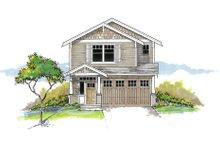 Architectural House Design - Craftsman Exterior - Front Elevation Plan #53-652