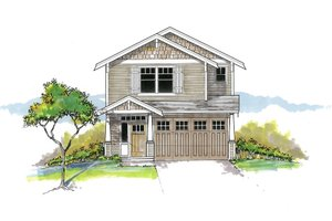 Craftsman Exterior - Front Elevation Plan #53-652