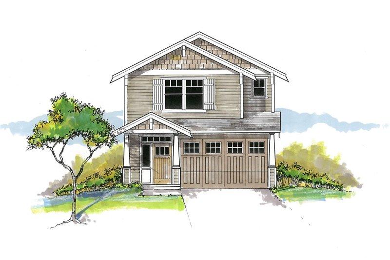 Dream House Plan - Craftsman Exterior - Front Elevation Plan #53-652