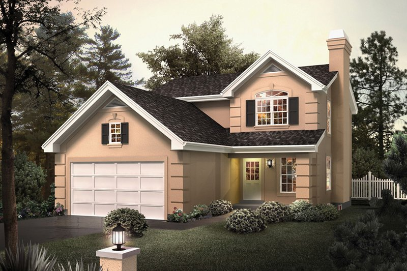 Architectural House Design - Traditional Exterior - Front Elevation Plan #57-693