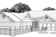 Craftsman Style House Plan - 2 Beds 2.5 Baths 2394 Sq/Ft Plan #70-1040 Exterior - Other Elevation